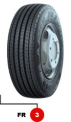 245/70R19.5 136/134M TL FR 3 EU LRH 16PR MATADOR-nová pneu, predná náprava